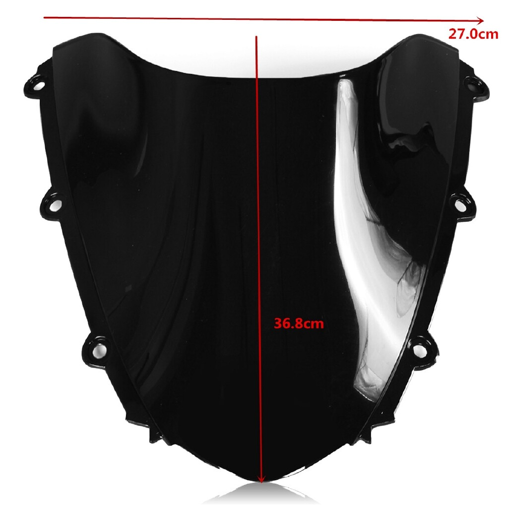 Moto Spare Parts - Black ABS Windshield Windscreen Screen Protector For HONDA CBR1000RR 04 05 06 07 - Motorcycles, & Accessories