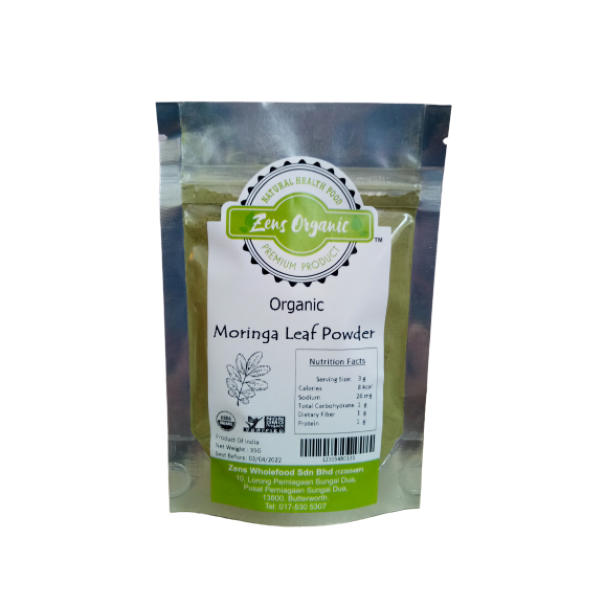 Zens Organic Moringa Leaf Powder- 35g