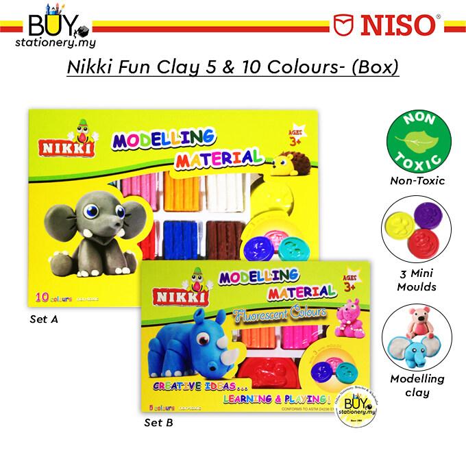NIKKI FUN CLAY + Extra 5s/10s Colours - (BOX)