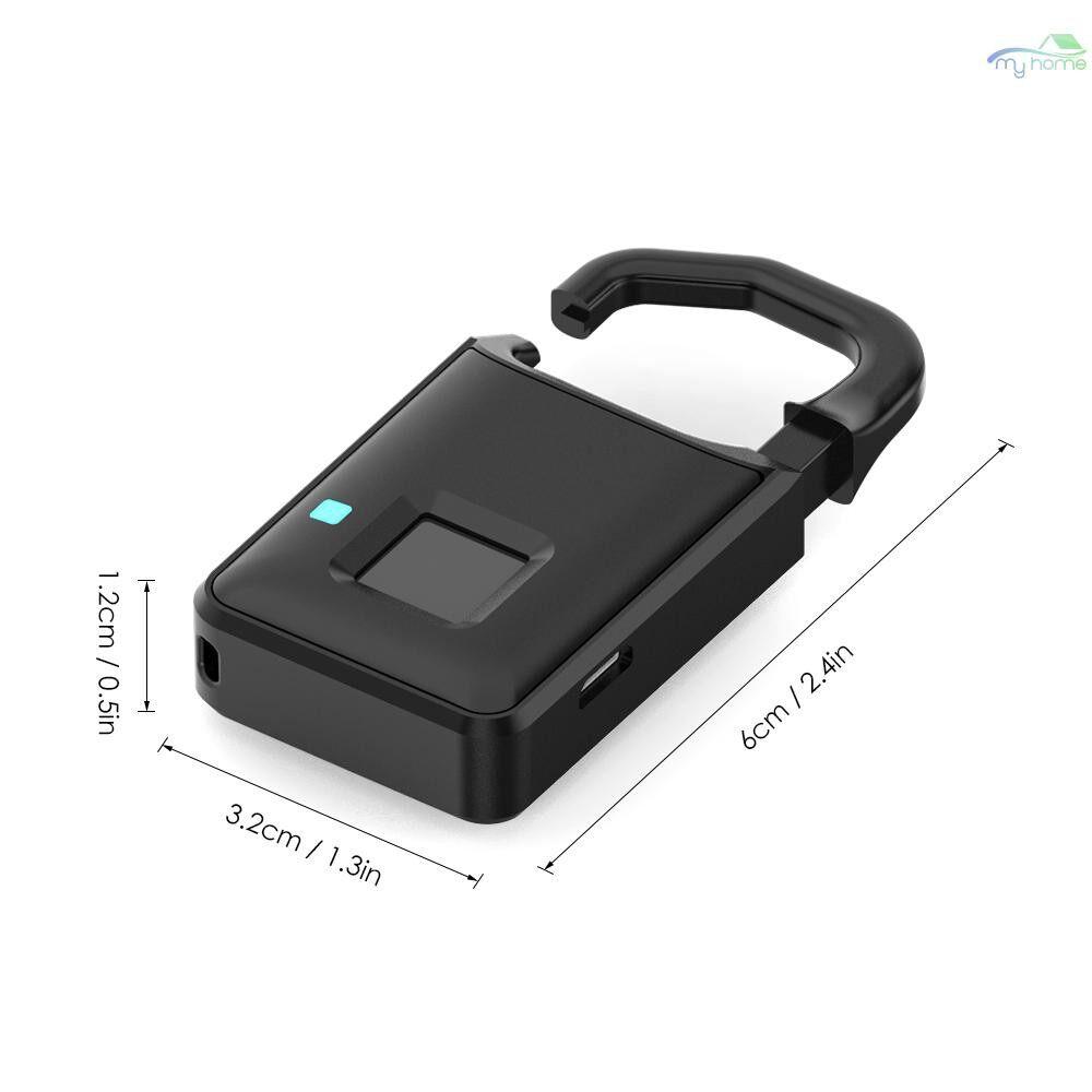 Chains & Locks - USB Rechargeable Smart Keyless Fingerprint Lock Fast Response 10-Groups Fingerprints Anti-Theft - #