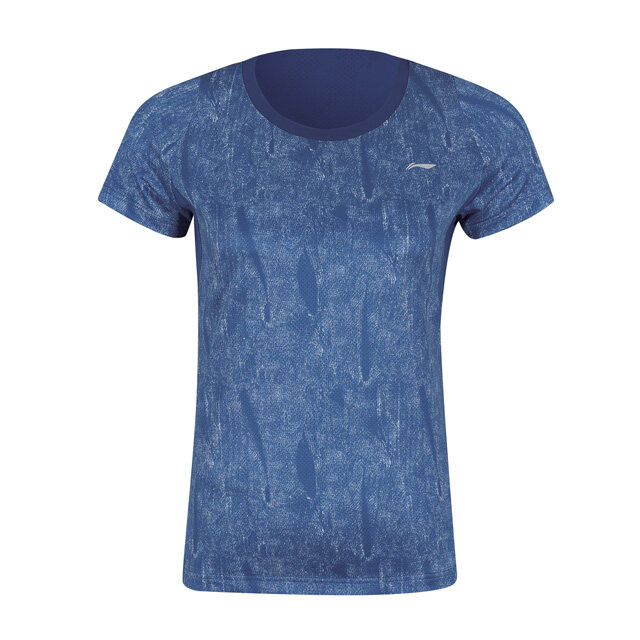Li-Ning Women's Badminton T-Shirt - Blue AAYP126-2