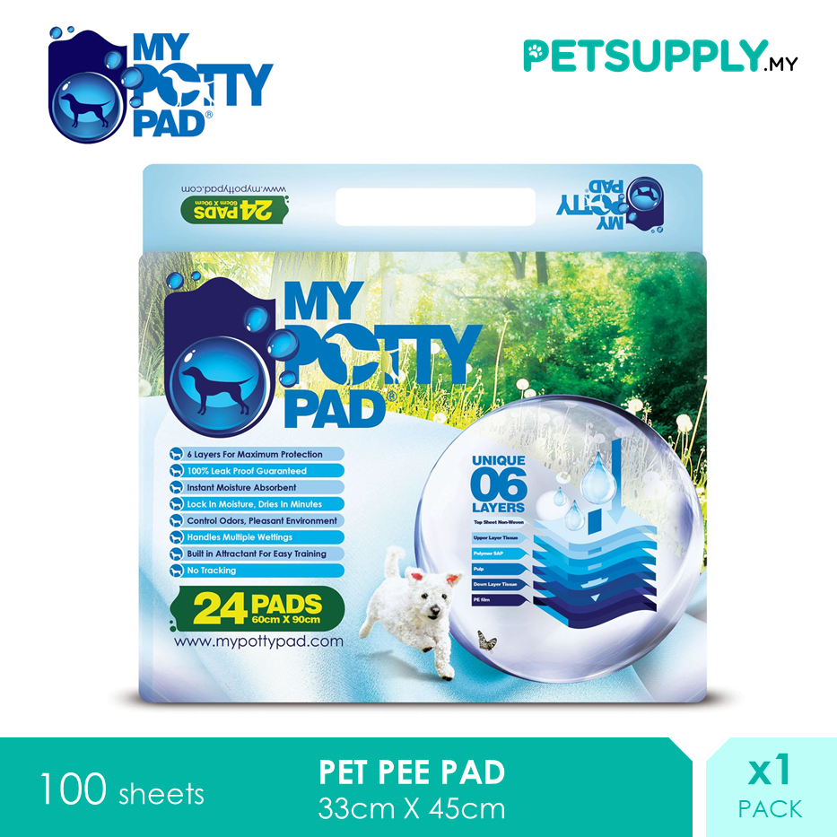 My Potty Pad Dog Training Pee Pad Regular [PETSUPPLY.MY]