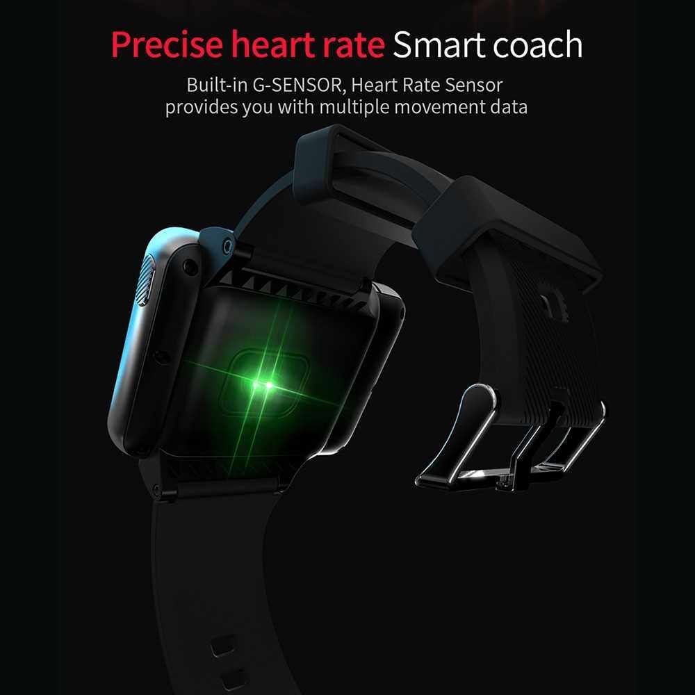 LOKMAT APPLLP MAX 2.88-inch Full Touch 4G Smart Watch 4GB+64GB 2300mAh Battery Dual Camera Music Control Free Video Chat Heart Rate Monitoring Multi-Sport Waterproof Outdoor Sports Wristband Smartwatch with SIM Card Slot (Black)