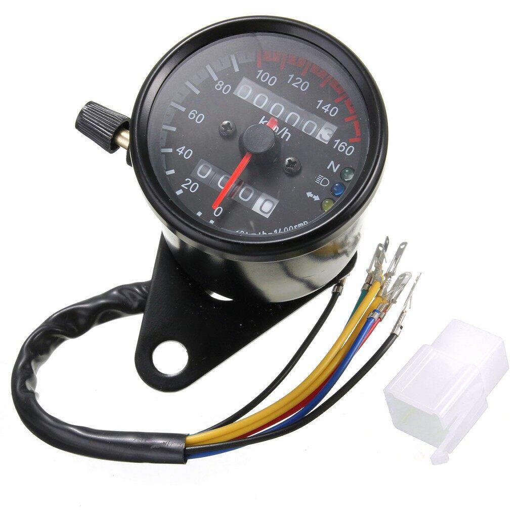 Moto Accessories - Universal Motorcycle Dual Speedometer Odometer Gauge - Motorcycles, Parts