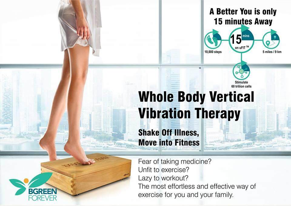 BGREEN U Fit- Whole Body Vertical Vibration (R1) VOUCHER - DELIVERY BY SELLER