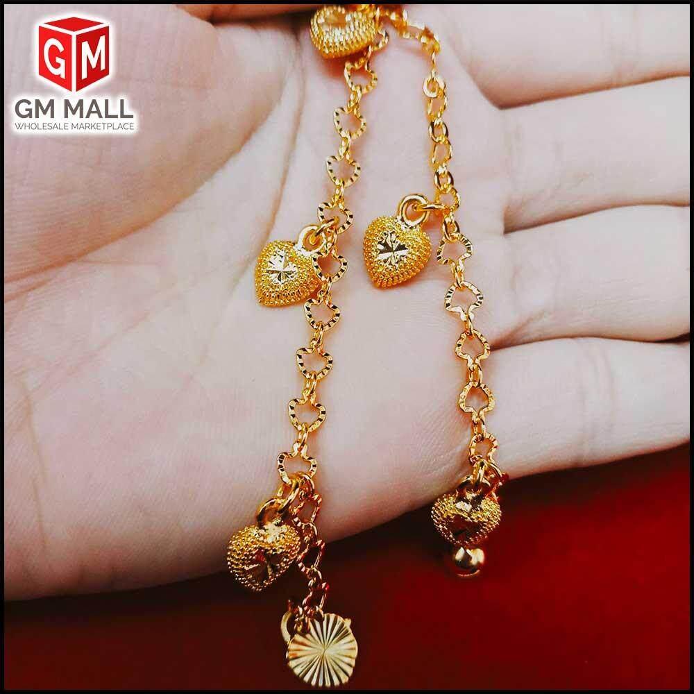 Emas Korea Jewellery - Rantai Tangan Love Nipis + Love (EK-2024-6)
