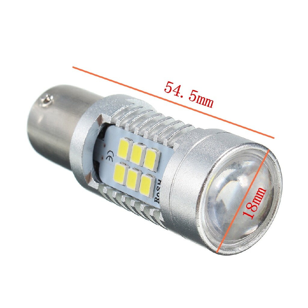 Car Lights - 1156 White 6000K High Power 2835 Chip 10W 21 Led Back Up Reverse Light bulbs - Replacement Parts