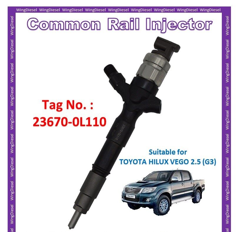 Diesel Fuel Pump Common Rail Injector 100% New Toyota Hilux Vego 2.5 (G3)