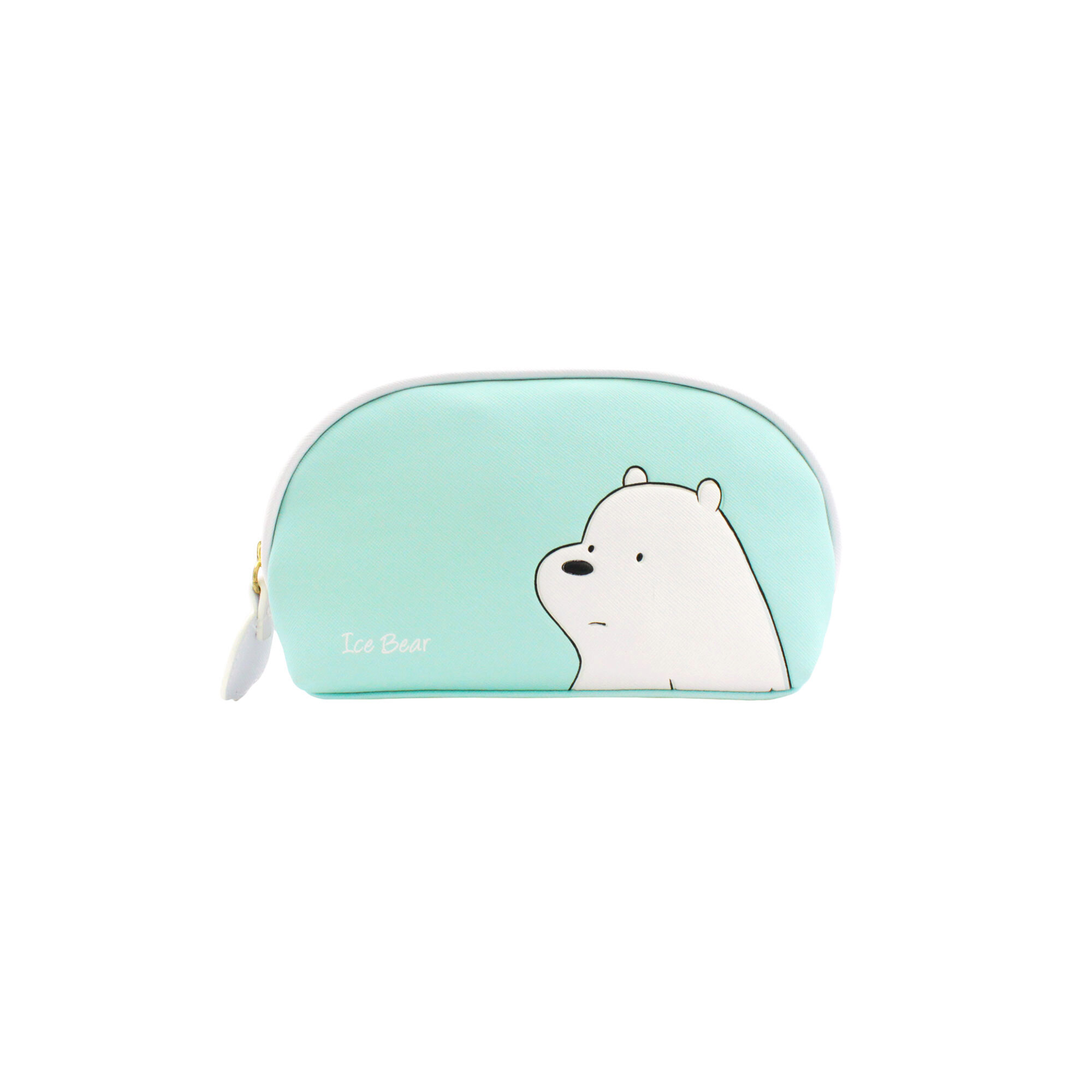 We Bare Bears Ice Bear Multipurpose Pouch -Turquoise & White Colour