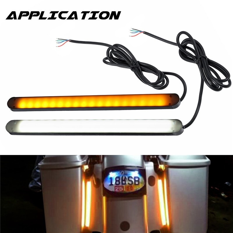 Car Lights - 2 PIECE(s) Car Motorcycle 36LED Turn Signal Flowing LED Strip Light White&Yellow 12V - Replacement Parts