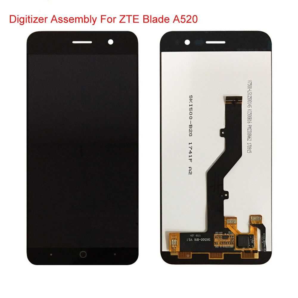 LCD Display and Touch Screen Digitizer Assembly Accessories For ZTE Blade A520 - BLACK WITH FRAME / BLACK NO FRAME