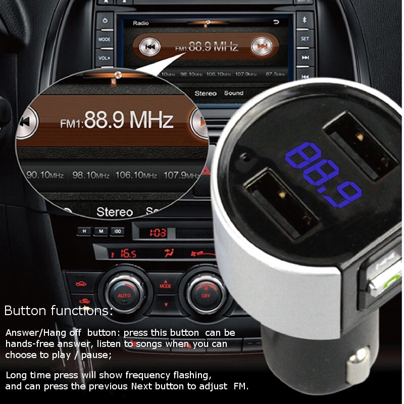 Car Multimedia Players - WIRELESS Radio Adapter USB Charger MP3 Player Car BLUETOOTH Kit FM Transmitter - Electronics