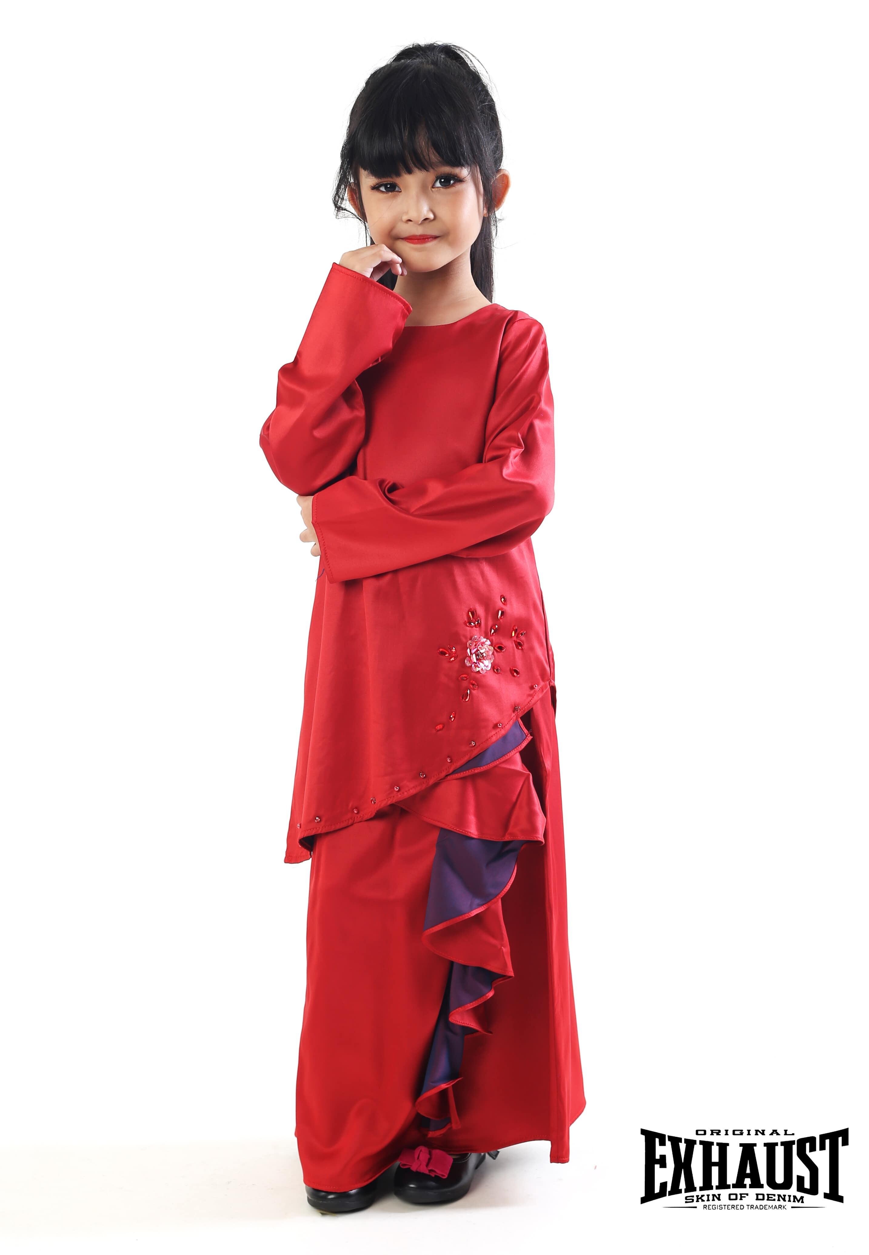 Exhaust Baju Kurung Fashion Kids 7115#3