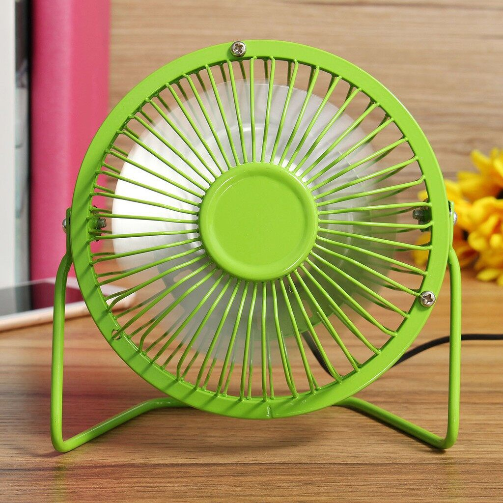 USB Fan - MINI PORTABLE USB Fan Desktop Cooling & Solar Panel For Laptop Computer Outdoors - GREEN / YELLOW / BLUE / PINK / BLACK