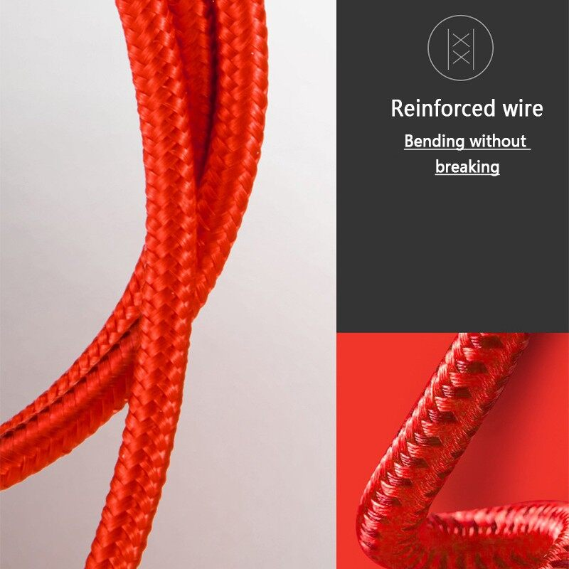 Mobile Cable & Chargers - 0.25/1/2M Double Elbow Nylon Braided Type C USB Cable for Smartphone - 2M / 1M