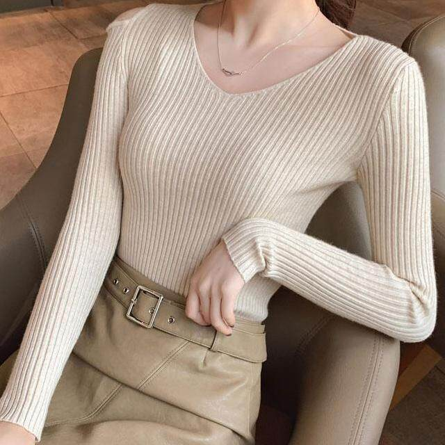 (Pre Order14 Days JYS Fashion Korean Style Women Knit TopCollection526-8196col525a-8196--Beige- One size