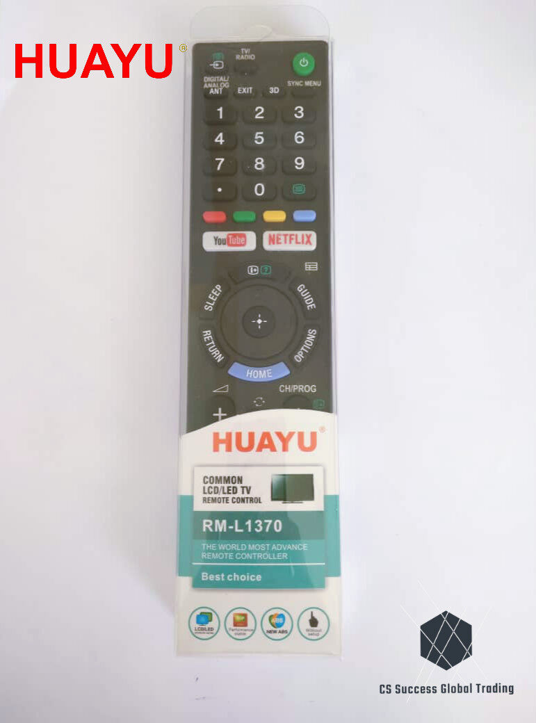 HUAYU SONY RM-L1370 COMMON LCD/LED TV REMOTE CONTROLER