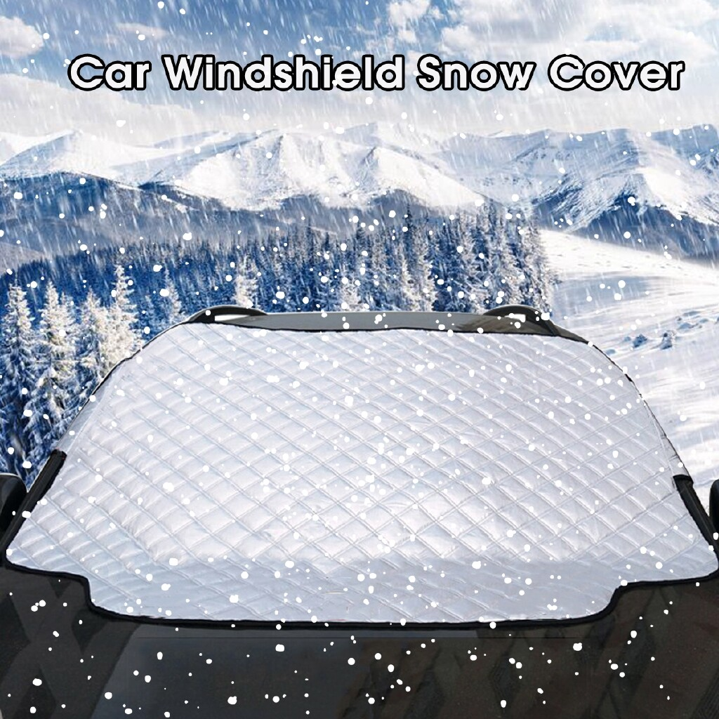 Wash & Wax - Universal Car Front Windshield Snow Cover Frost Sun UV Shade Protector Shield - 183116