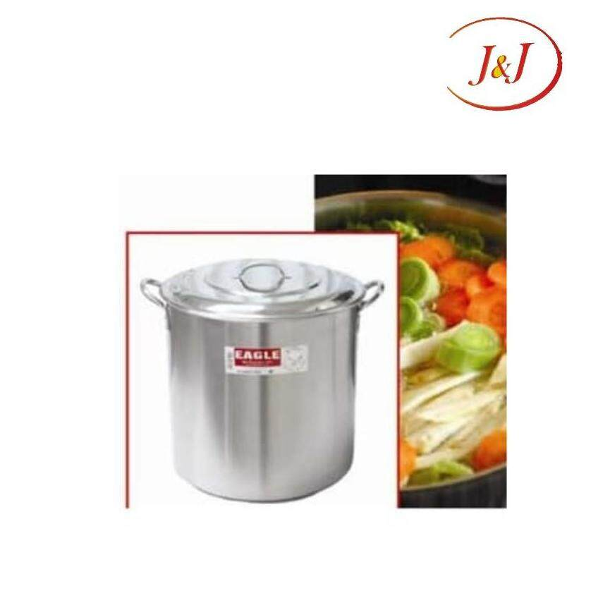 EAGLE Stainless Steel Stock Pot with Capsulated Bottom - Cookware, 26cm