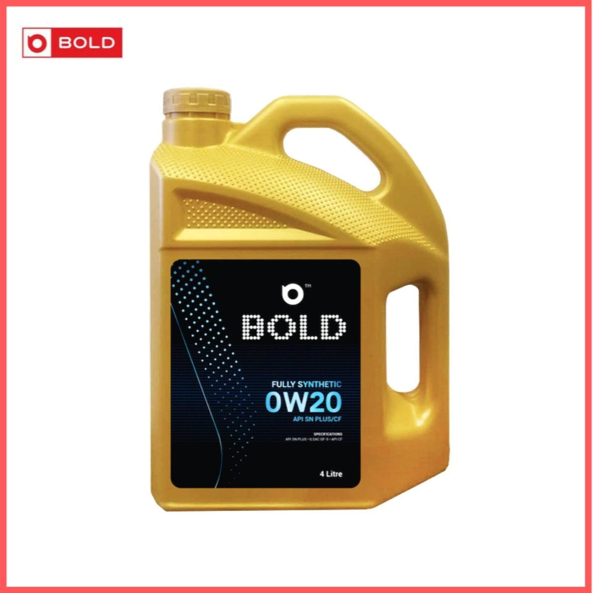 Bold Fully Synthetic SN Plus 0w20 Engine Oil Lubricant 0w-20 4L / 4Litre Minyak Hitam Minyak Enjin Kereta Proton / Nissan / Toyota / Honda / Perodua