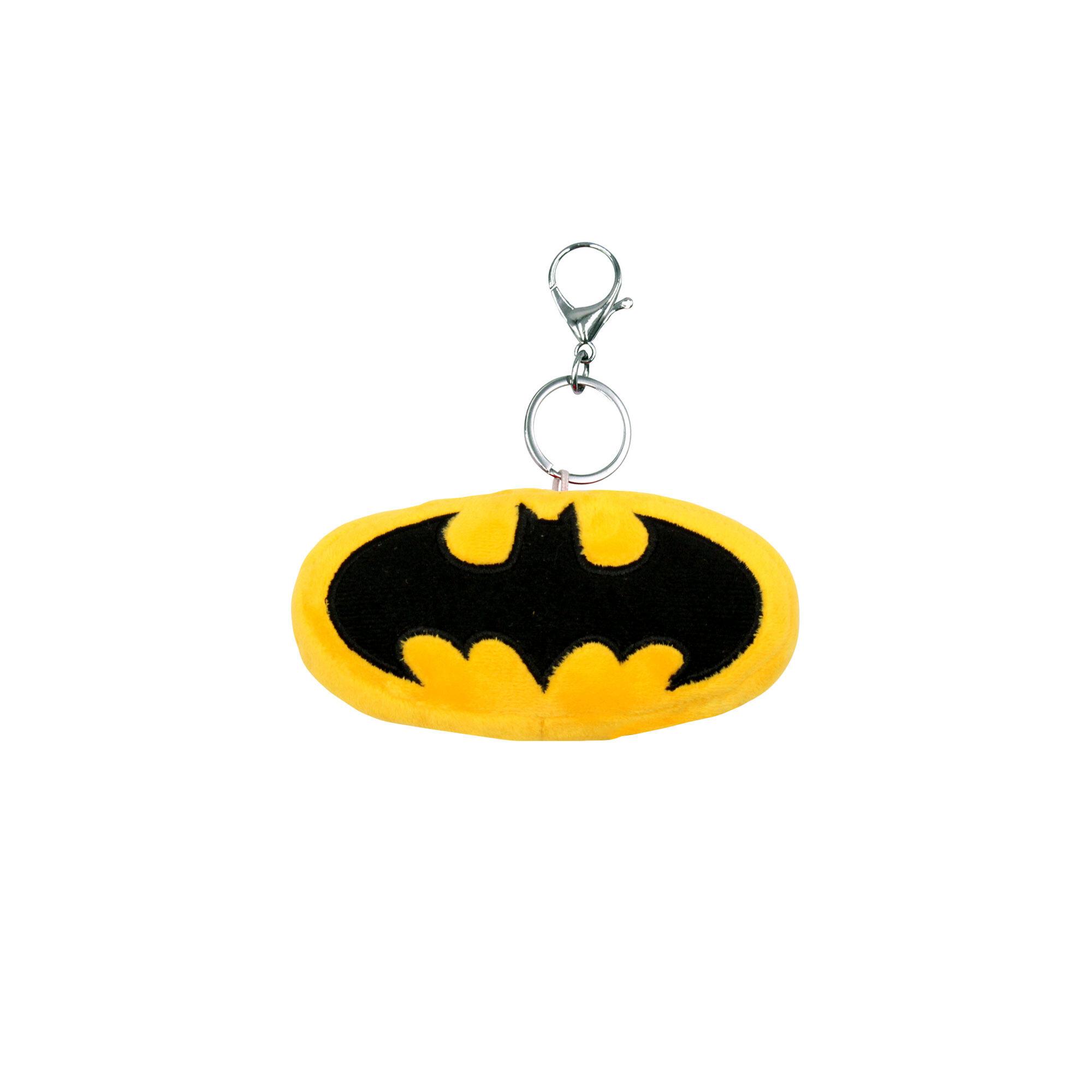 Dc Comics Justice League Batman Logo Plush Toy Key Ring - Yellow