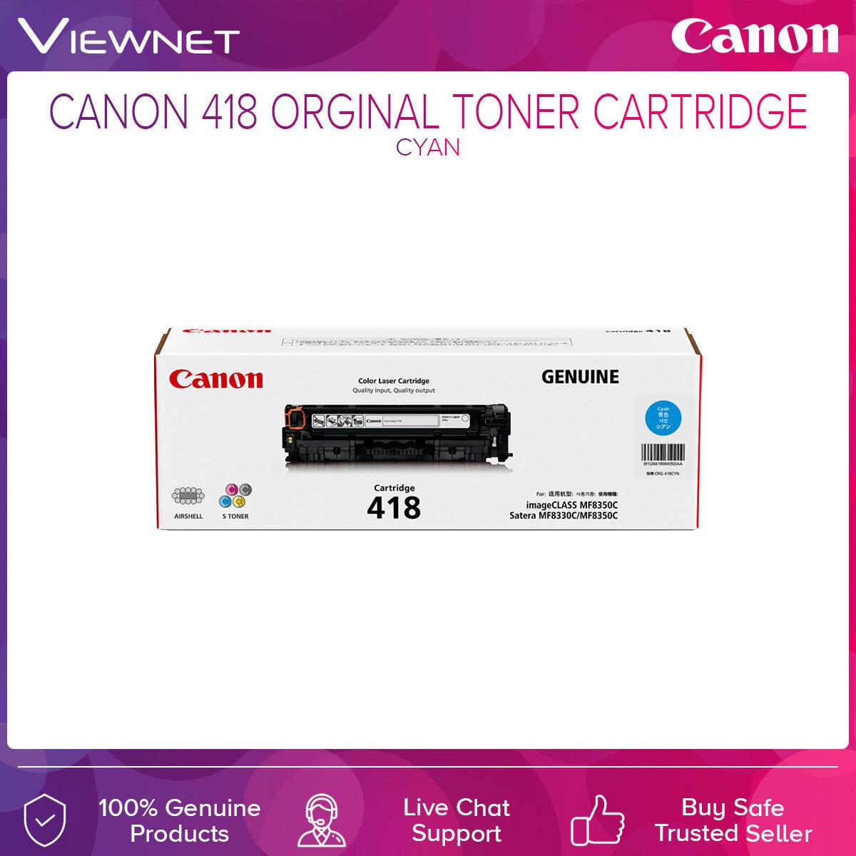Canon 418 ORIGINAL TONER CARTRIDGE Black  Cyan  Magenta  Yellow
