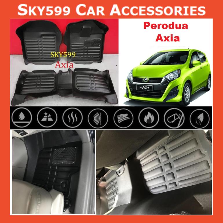 Perodua Axia 5D Car Floor Mat/Carpet