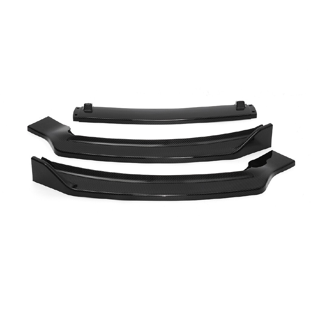 Automotive Tools & Equipment - Carbon Fiber Look Front Bumper Lip Spoiler Splitter For Ford Fusion/Mondeo 13-16 - Car Replacement Parts