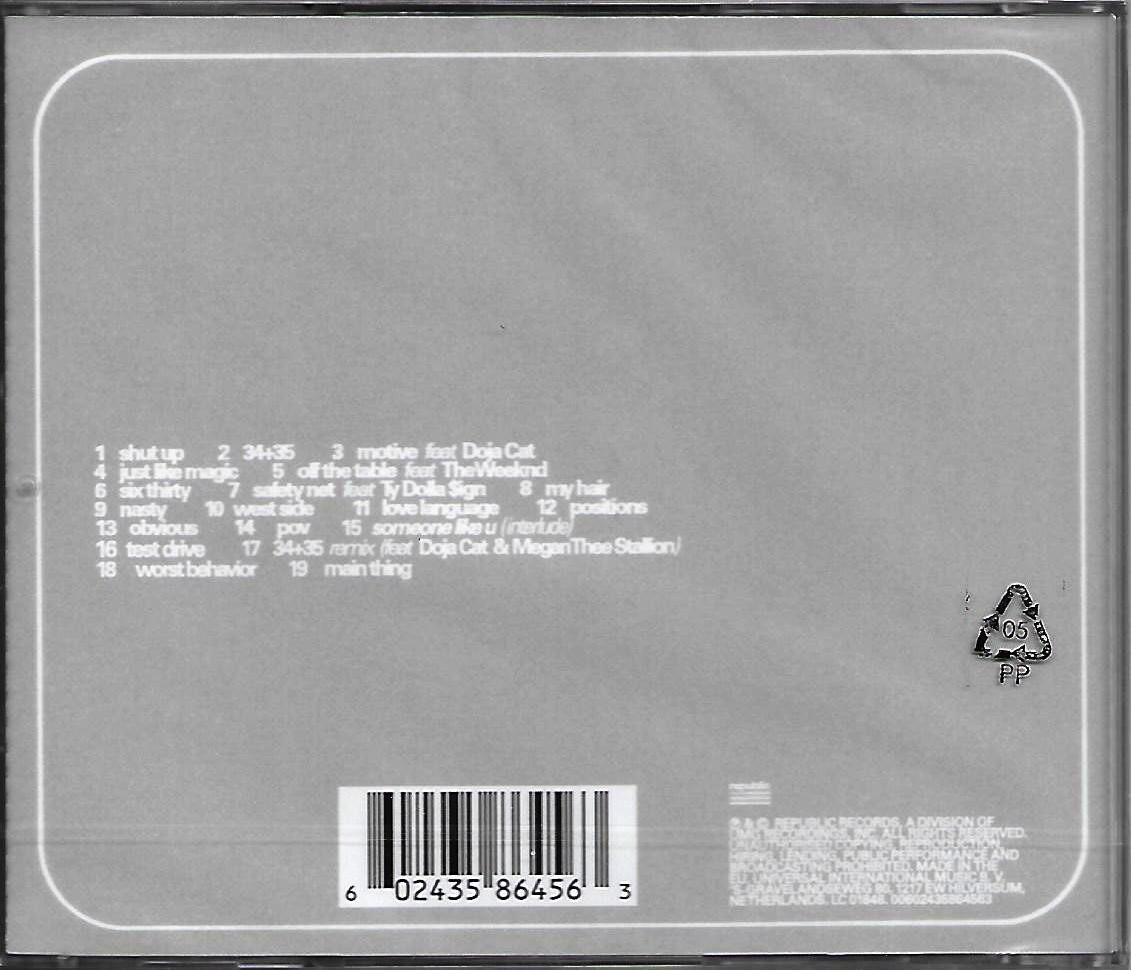 Ariana Grande Positions Deluxe Edition Imported CD EU Pressed Parental Advisory Explicit Content