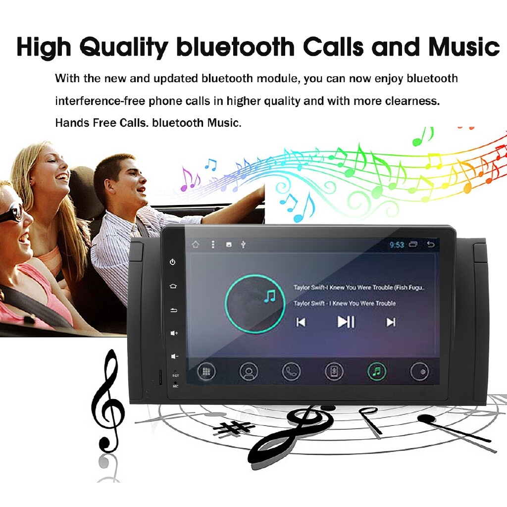 Car Radios - 9'' 1 Din Android 8.1 Car Stereo Radio Player Nav Wifi DAB+ For BMW E53 E39 - Electronics