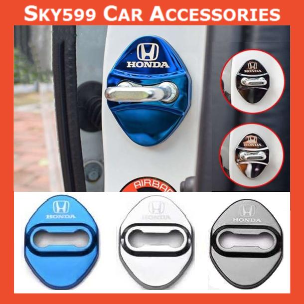Honda Car Stainless Steel Door Lock Cover Case [4pcs]