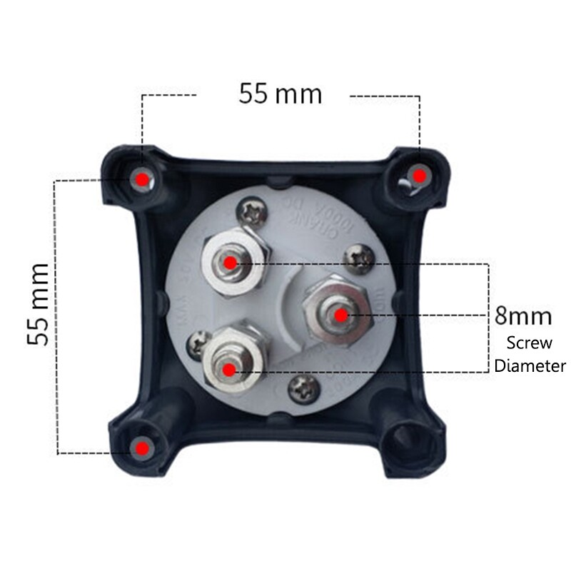 Car Lights - 3P 12V-48V 300A Battery Selector Switch Instantaneous Current 1200A For RV Car - Replacement Parts