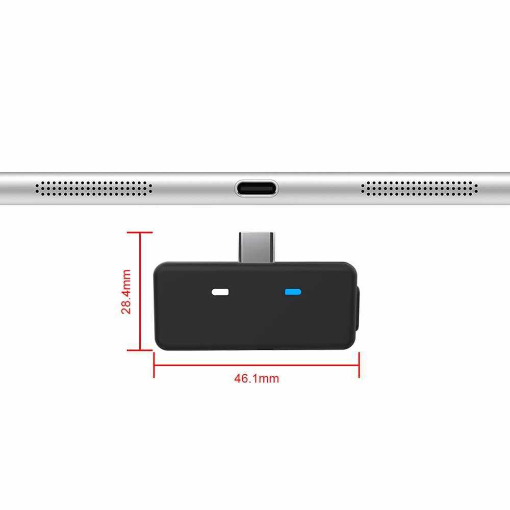 Bluetooth 5.0 Audio Transmitter Adapter APTX Low Latency Compatible with Nintendo Switch PS4 TV PC USB/Type-C Wireless Transmitter (Standard)