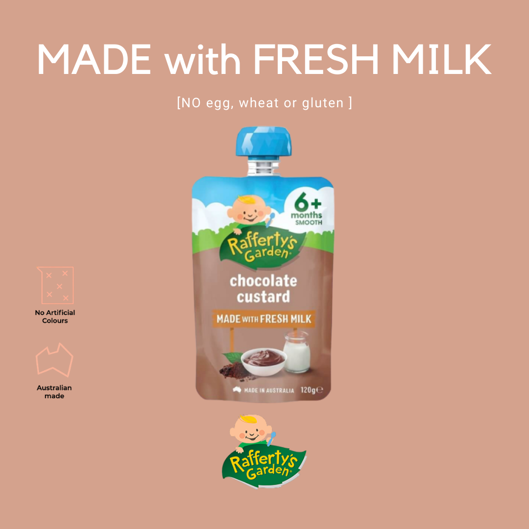 Rafferty's Garden Chocolate Custard Baby Puree 6+m [Exp Date: Dec 2021]