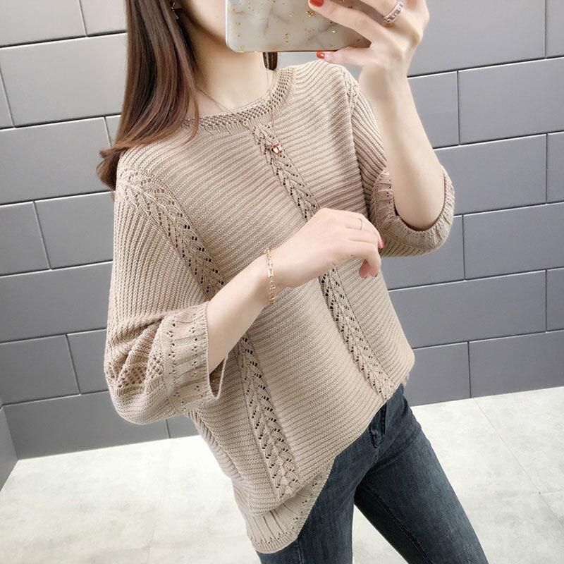 Pre order 14 Days JYS FashionKoreanStyleWomenKnitTopCollection4779 khakis XL col 5361