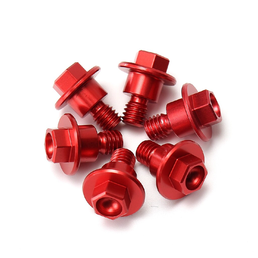 Car Accessories - 6 PIECE(s) CNC Red Bolt Fork Guard Fit For Honda CRF250/125/450/XR250/400/CR85R - Automotive