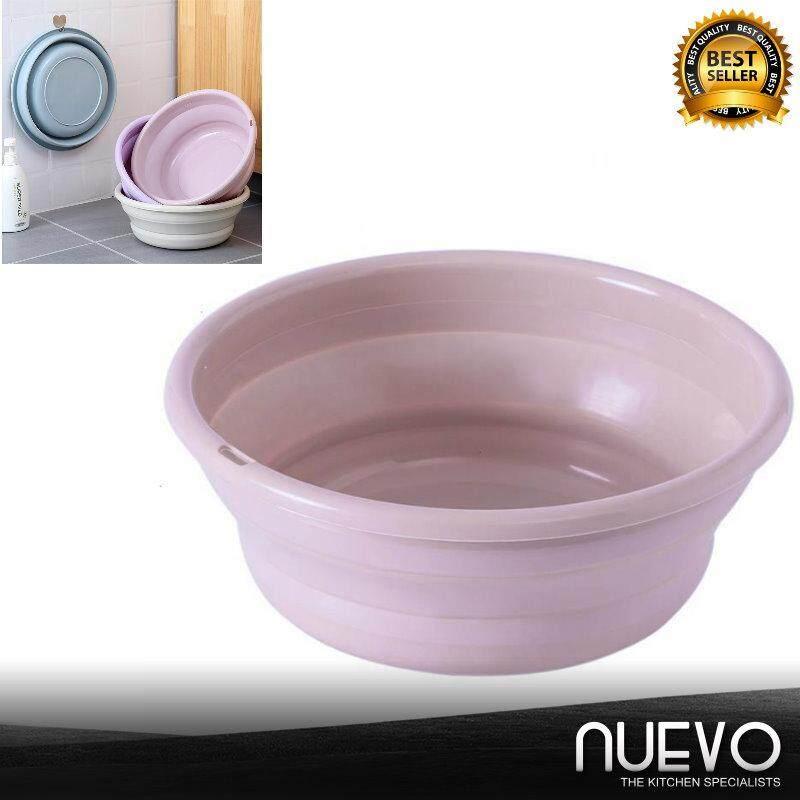 Nuevo 28.5cm Creative Washbasin Plastic Household Laundry Tub Portable Travel Outdoor Thickened Water Basin
