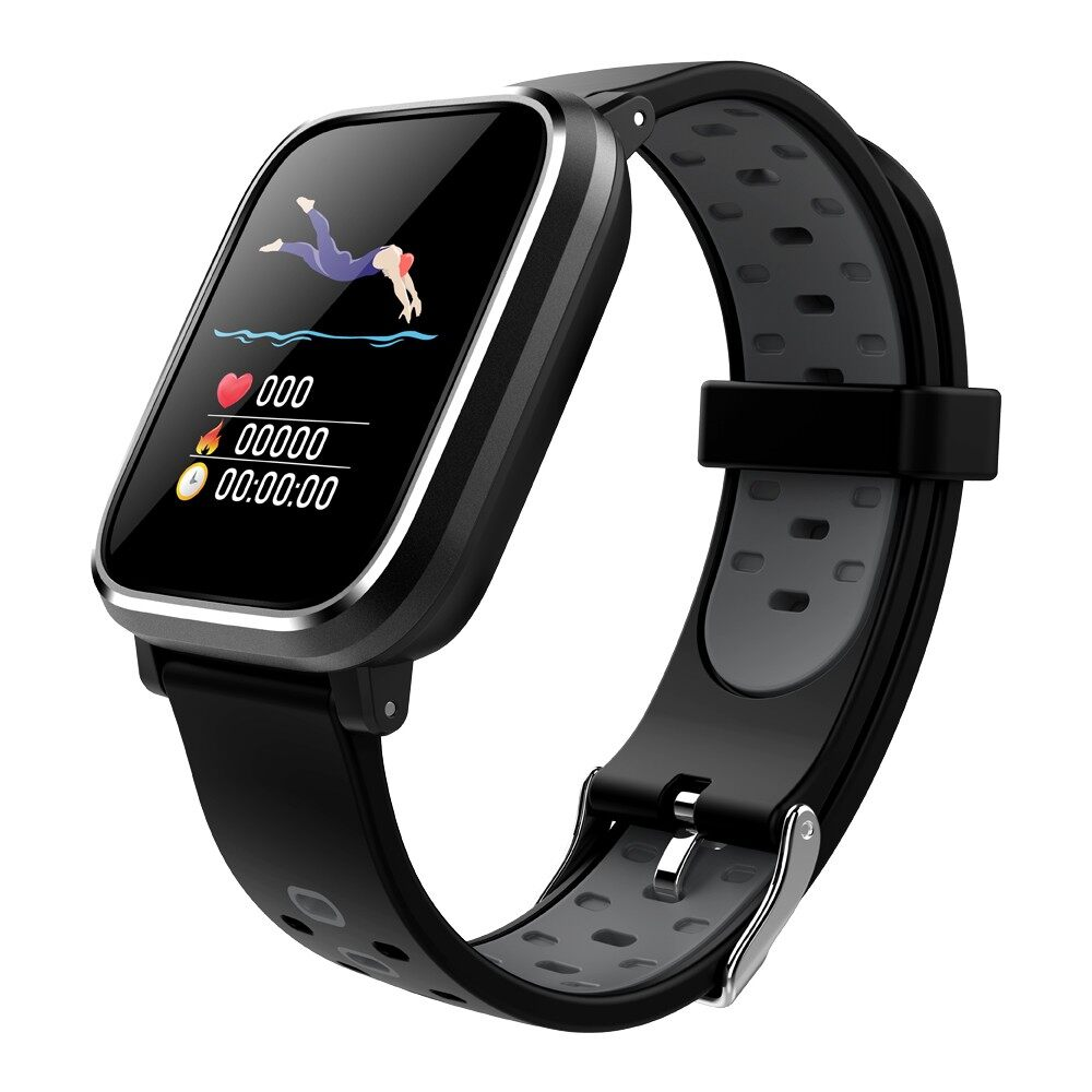 Smart Watch - 3D Dynamic UI Display Smart Watch Heart Rate Monitor Sport Watch - GREY / BLUE