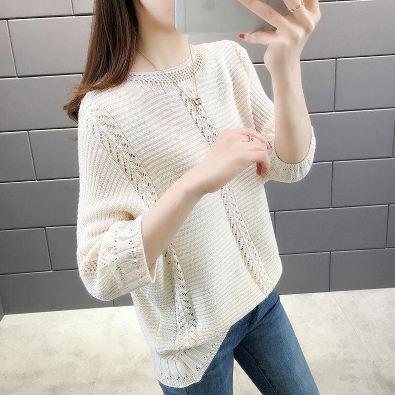 Pre order 14 Days JYS FashionKoreanStyleWomenKnitTopCollection4779 rice white S1