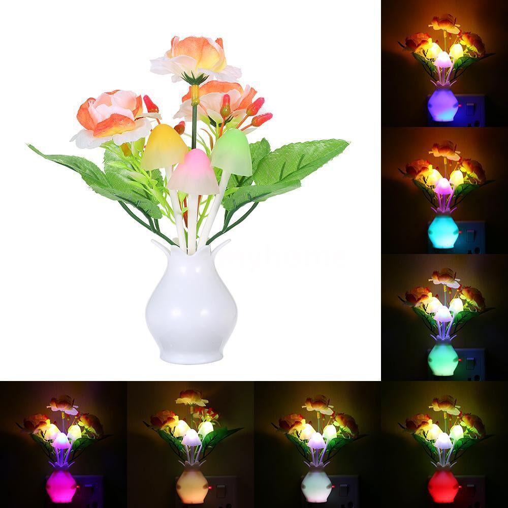 Outdoor Lighting - AC110-220V LED Flower Vase Potted Wall Lamp Night Light Sensitive Light Control Automatic Color - TYPE 6 / TYPE 5 / TYPE 4 / TYPE 3 / TYPE 2 / TYPE 1