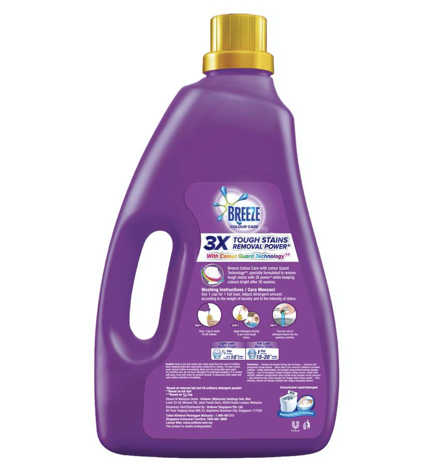 Breeze Colour Care Concentrated Liquid Detergent 3.8kg