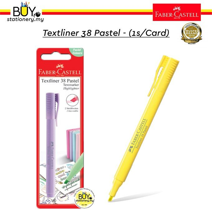 Faber Castell Textliner/ Highlighter 38 Pastel - (1s /Card)