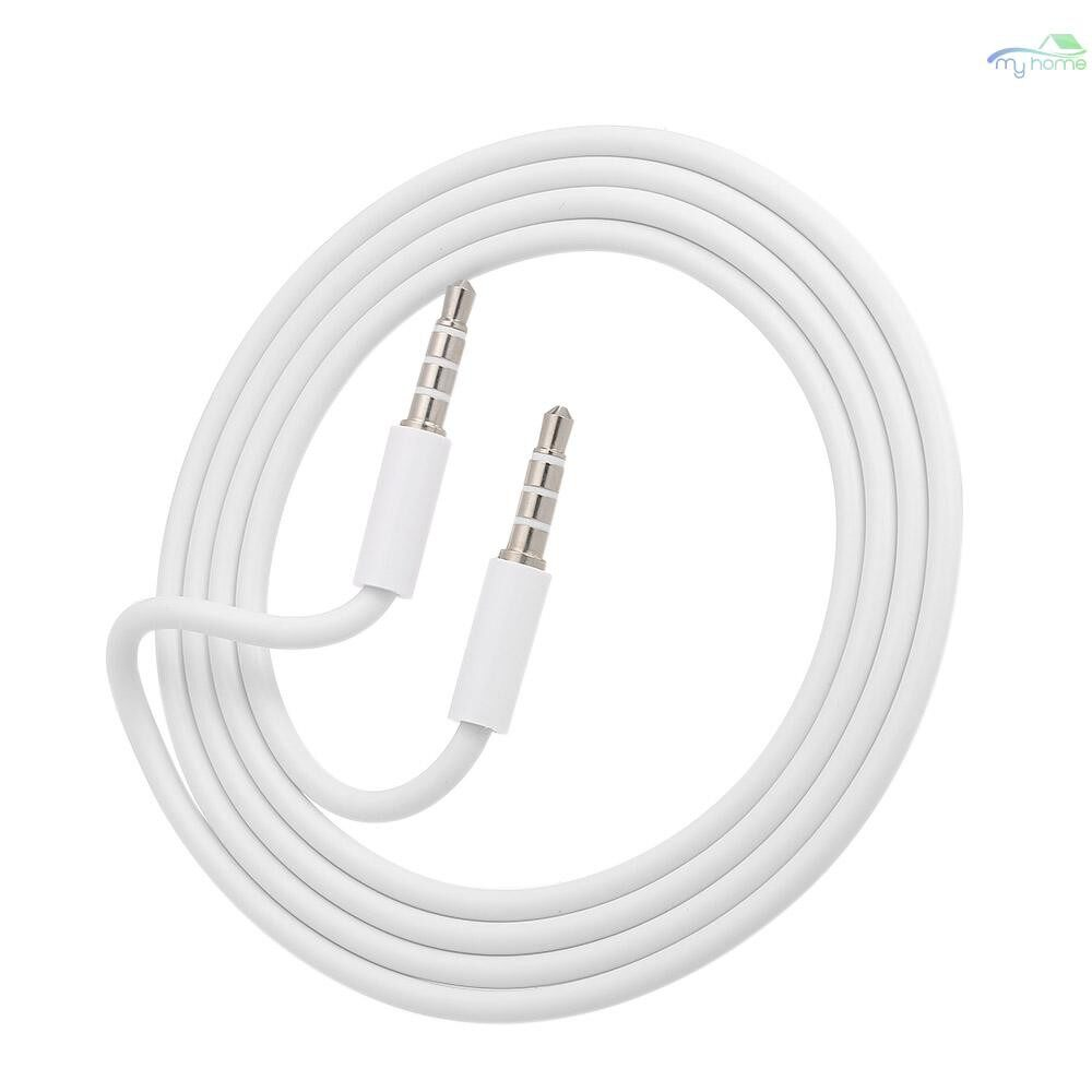 Mobile Cable & Chargers - 3.5mm Jack Auxiliary Audio Cable Male to Male Stereo Audio Extension Cord,White - WHITE-1M