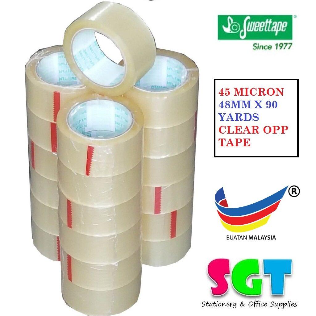 Sweettape Clear OPP Tape 48MM x 90 Yards (6 in 1)