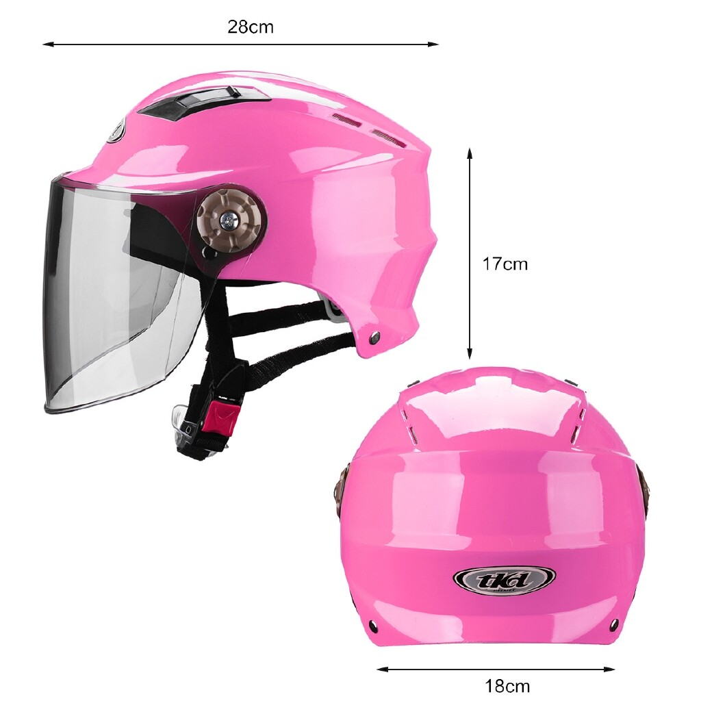 Moto Helmets - Motorcycle Protection Helmets Electrocar Helmet Cycling Outdoor Riding Sports - SKY BLUE / PINK / YELLOW / WHITE / BLACK TWO / BLACK ONE / SILVER RED
