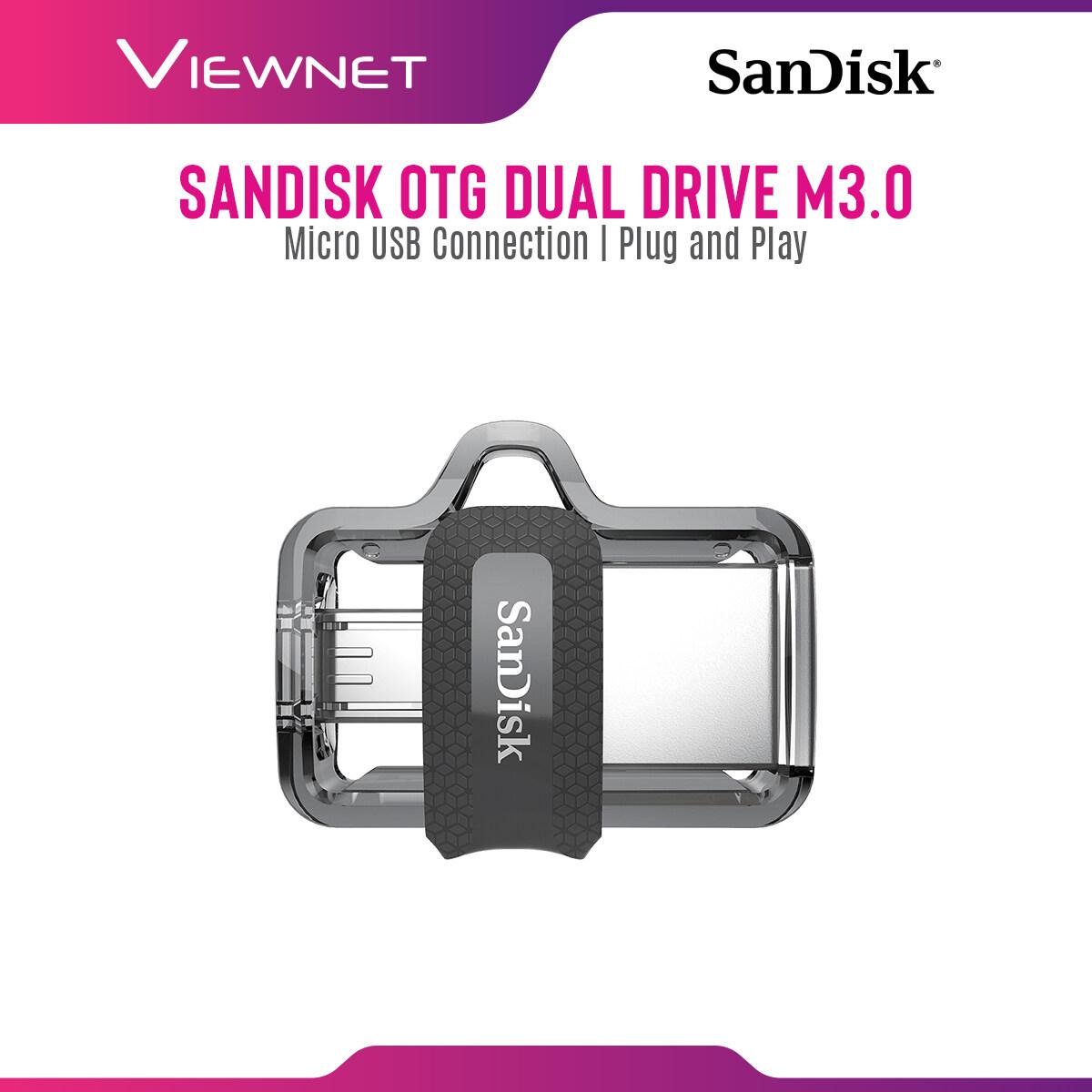 SanDisk Ultra Dual Drive M3.0 OTG USB 3.0 and Micro-USB Flash Drive (up to 150 MB/s) - 256GB / 128GB / 64GB / 32GB / 16GB