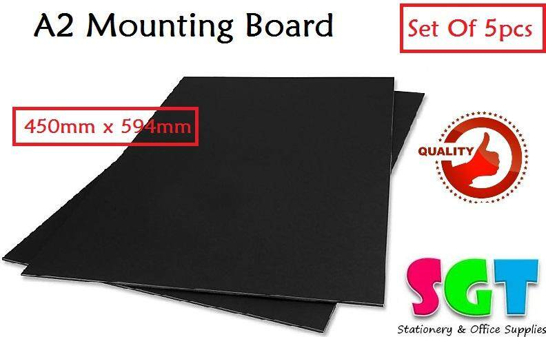 A2 Black Mounting Board 5pcs/pack
