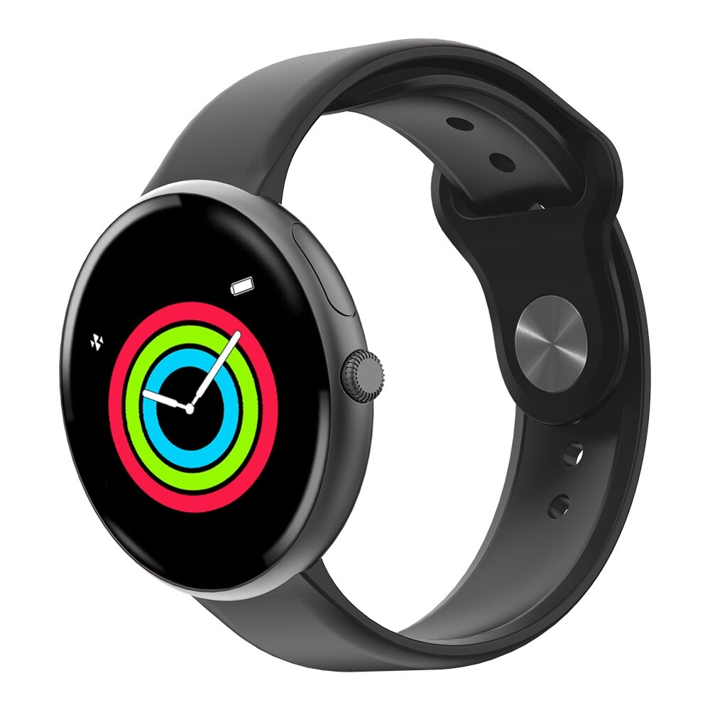 Smart Watch - ALLCALL AC01 Heart Rate Blood Pressure O2 Monitor IP68 Weather Push BLUETOOTH Music Camera Control - BLACK