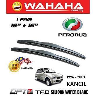 Perodua Kancil U Shape OPT7 Window Windshield TRD Silicon Wiper Blade 16 +18
