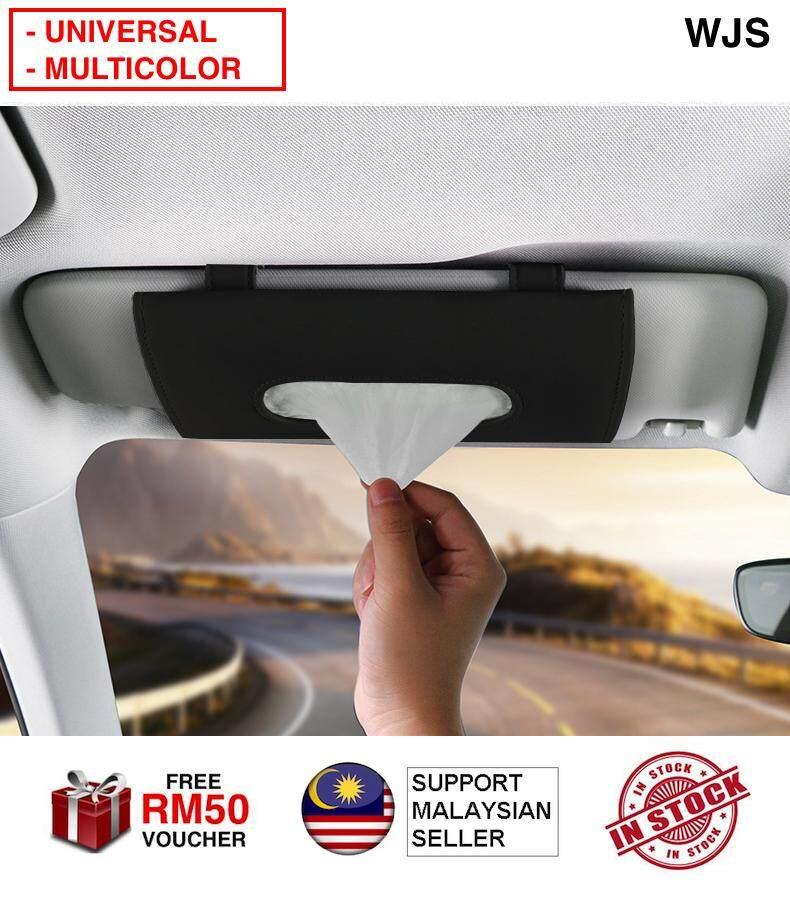 (WITH CLIP ON) WJS Universal Car Visor Tissue Box Car Sun Visor Tissue Box Tissue Holder Napkin Box Napkin Holder Tissue Holder Tissue Clip With Clip BLACK [FREE RM 50 VOUCHER]